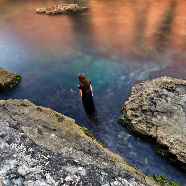 Mustafa Dedeoglu WOMAN WALKING IN WATER Women