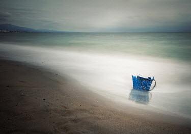 Bianca van der Werf BROKEN BASKET ON MISTY SEASHORE Seascapes/Beaches