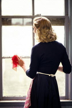 Elisabeth Ansley BLOND WOMAN STANDING BY WINDOW Women
