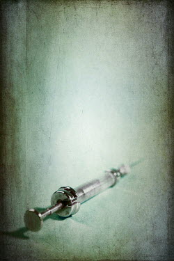 Peter Chadwick VINTAGE SYRINGE WITH BLOOD Miscellaneous Objects