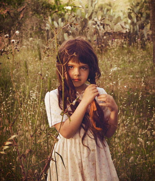Chiara Fersini LITTLE GIRL IN FIELD Children