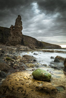 Graham Hunt STONE TOWER ON ROCKY BEACH Seascapes/Beaches