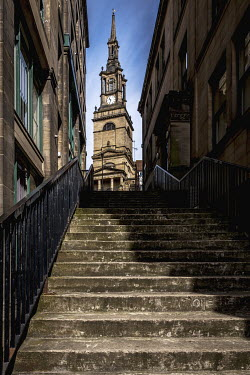 Graham Hunt CHURCH AT TOP OF STAIRS Religious Buildings