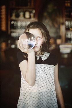 Vanesa Munoz GIRL WITH GLASS BALL OVER EYE Women