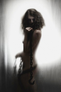 Elisa Lazo de Valdez NAKED WOMAN WITH CHAINS Women
