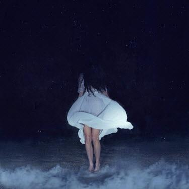Rebeca Cygnus WOMAN ON BEACH AT NIGHT Women