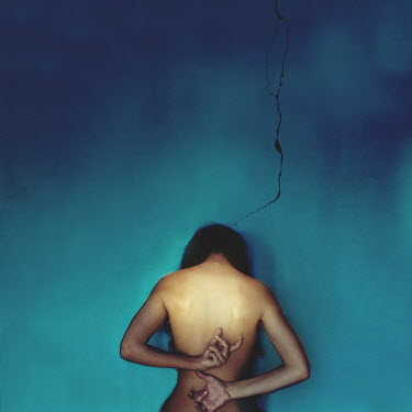 Rebeca Cygnus NAKED WOMAN BY CRACKED WALL Women