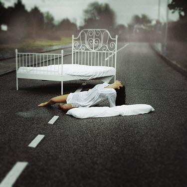 Rebeca Cygnus WOMAN ON BED ON ROAD Women