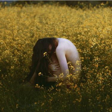 Rebeca Cygnus NAKED WOMAN IN FLOWERY MEADOW Women