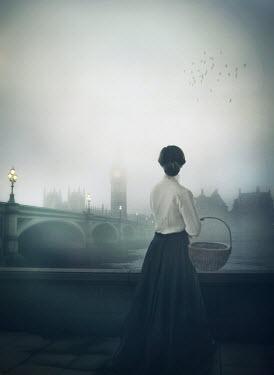 Mark Owen HISTORICAL WOMAN IN LONDON AT NIGHT Women
