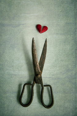 Karina Simonsen OLD SCISSORS WITH BROKEN HEART Miscellaneous Objects