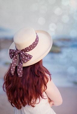 Yulya Saponova RED HAIRED WOMAN IN SUMMER HAT Women