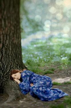 Yulya Saponova WOMAN SLEEPING BY TREE Women