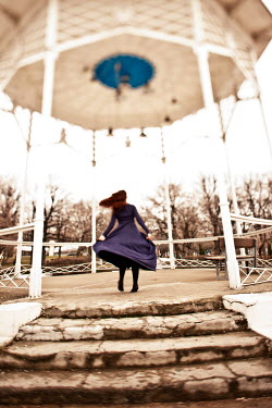 Yulya Saponova WOMAN DANCING ON BANDSTAND Women