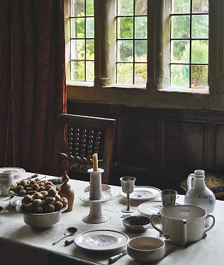 Vesna Armstrong LAID DINING TABLE IN OLD HOUSE Miscellaneous Objects