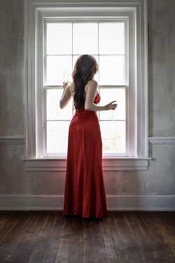 Stephen Carroll WOMAN BY WINDOW WITH WINE Women