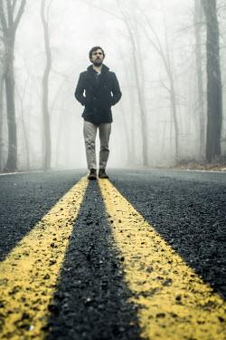 Stephen Carroll MAN WALKING ON MISTY ROAD Men