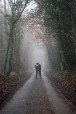 Natalie Miller COUPLE KISSING ON COUNTRY PATH Couples