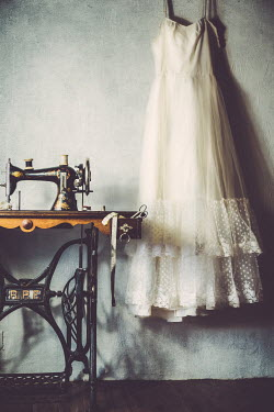 Elly De Vries VINTAGE SEWING MACHINE AND DRESS Miscellaneous Objects