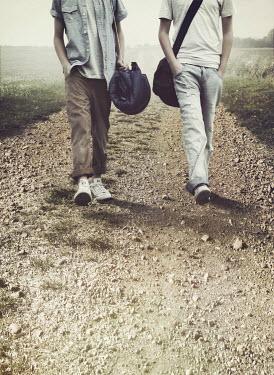 Mark Owen BOYS WALKING ON DIRT TRACK Groups/Crowds