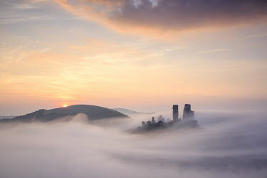 Mark Bauer CASTLE IN FOG AT SUNRISE Miscellaneous Buildings