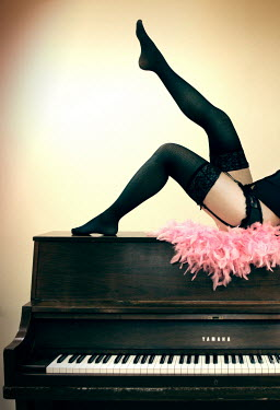 ILINA SIMEONOVA WOMAN IN LINGERIE ON PIANO Women