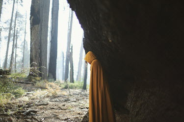 Whitney Justesen WOMAN IN CLOAK IN CAVE Women