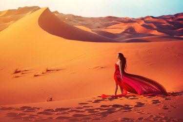 Sarah Ann Wright WOMAN STANDING IN DESERT Women
