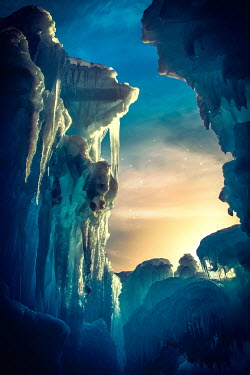 Elisabeth Ansley ICE CAVE AT SUNSET Snow/ Ice