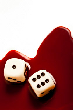 Valentino Sani TWO DICE WITH BLOOD Miscellaneous Objects