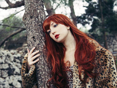 Chiara Fersini RED HAIRED WOMAN STANDING BY TREE Women