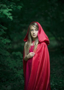 Magdalena Berny BLOND GIRL IN RED CAPE Children
