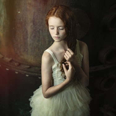 Magdalena Berny RED HAIRED GIRL IN BALLET DRESS Children