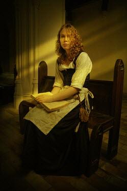 John Foley HISTORICAL MAIN READING ON BENCH Women