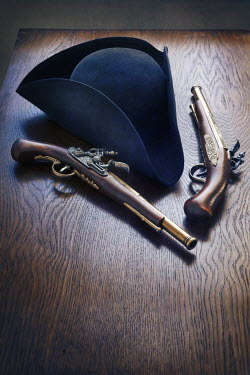 Lee Avison TRICORN HAT AND FLINTLOCK PISTOLS Miscellaneous Objects