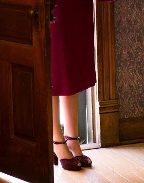 Elisabeth Ansley WOMAN STANDING IN DOORWAY Women