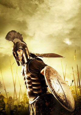 CollaborationJS SPARTAN WARRIOR WITH SWORD AND SHIELD
