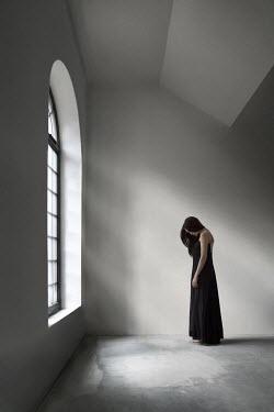 Hanna Seweryn WOMAN IN DRESS IN EMPTY ROOM Women