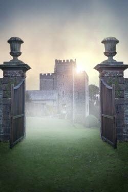 Lee Avison OPEN GATES LEADING TO HISTORICAL CASTLE Miscellaneous Buildings