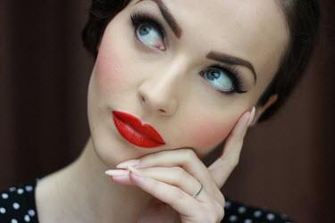 Maja Topcagic BEAUTIFUL WOMAN WITH VINTAGE MAKE-UP Women
