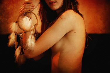 Remy Perthuisot NAKED WOMAN WITH DREAMCATCHER Women