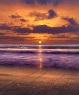 Adrian Leslie Campfield BEACH ON THE SUSSEX COAST AT SUNRISE Seascapes/Beaches
