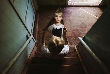 Igor Burba GIRL ON STAIRS WITH BROKEN MIRROR Women