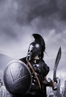 CollaborationJS TROJAN WARRIOR WITH SWORD AND SHIELD Men