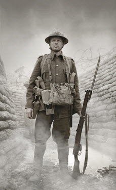 Stephen Mulcahey FIRST WORLD WAR SOLDIER IN TRENCH Men