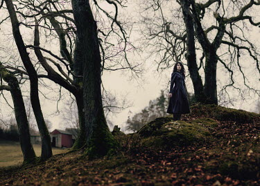 Rosie Anne Prosser WOMAN STANDING ON MOSSY HILL Women