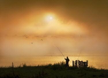 Adrian Leslie Campfield MAN FISHING AT SUNRISE Men