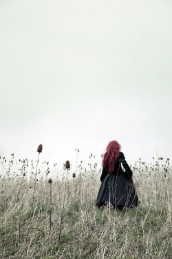 Carmen Spitznagel WOMAN WITH RED HAIR IN FIELD Women