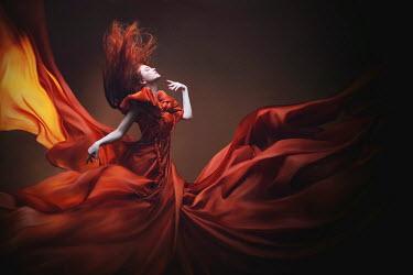 Irina Brana RED HAIRED WOMEN IN FLOWING DRESS Women