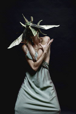 Elisa Lazo de Valdez WOMAN WITH GOLD INSECT HEADDRESS Women